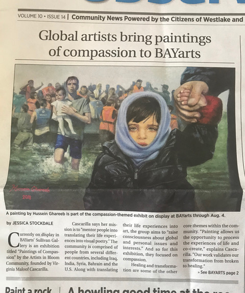 Global artists bring paintings of compassion to BAYarts